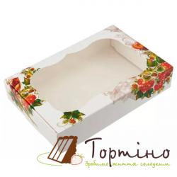 Коробка для пряника Калина с окном, 15*20*3 см
