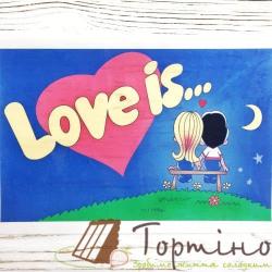 Вафельная пластина Love is прямоугольная