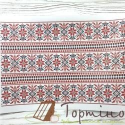 Вафельная пластина Вишиванка(червоно-чорна)