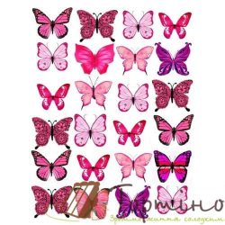 Вафельная пластина Бабочки 1