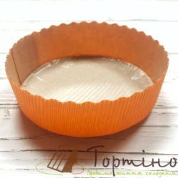 Бумажная форма для выпечки Тарту (Оранжевая)