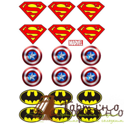 Вафельная пластина Супергерои 12