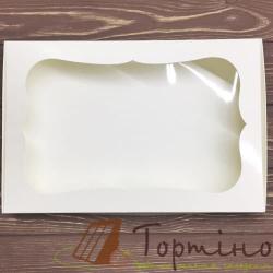 Коробка для пряника Белая с окошечком, 20 * 30 * 3 см