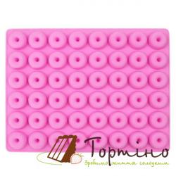 Силіконова форма для євродесерту Пончики міні 870-392262, 48 шт.