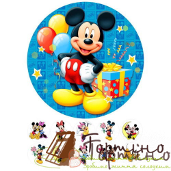 Вафельная пластина Микки Маус 2