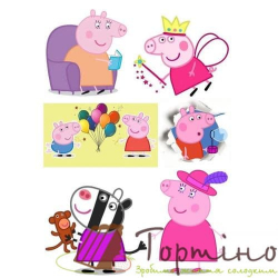 Вафельная пластина Свинка Пеппа 5