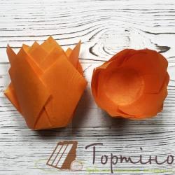 Форма для маффинов Тюльпан (оранжевый), 10 шт.
