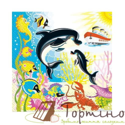 """Салфетки """"Дельфинчик"""""""