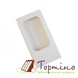 Коробка для плитки шоколада с окошечком Белая