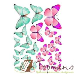 Вафельная пластина Бабочки 6