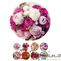 Вафельная пластина Цветы 2