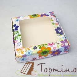 Коробка для пряника с окошечком Весна, 15 * 15 * 3,5 см